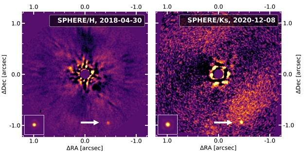 More raw data from the telescoping showing the YSES 2b exoplanet.