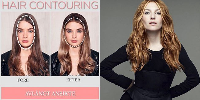 contuorning hair