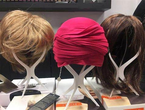 turbantes, pañuelos y pelucas