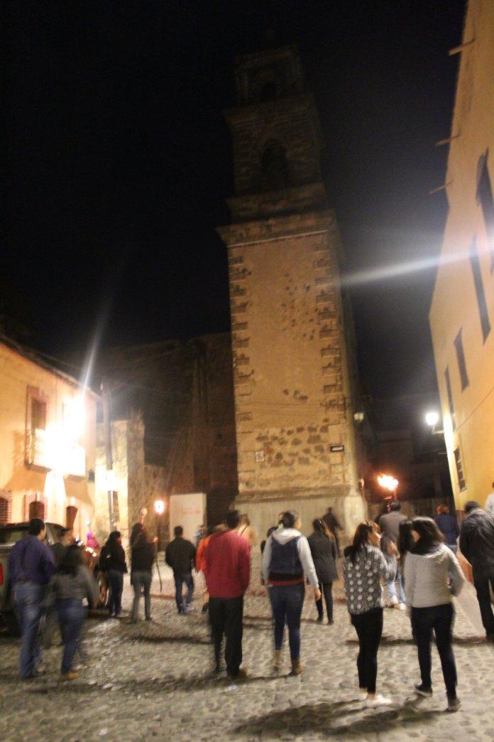 Recorridos turísticos nocturnos en el centro de Tlalpujahua, Michoacán