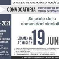 La Universidad Michoacana, abre la Convocatoria para el Nuevo Ingreso 2020-2021, para todas sus Preparatorias