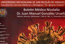 """Boletin Médico Nicolaita """"Dr. Juan Manuel González Urueña"""" en su edición de diciembre del 2020"""