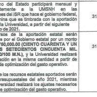 Gobierno de Michoacán; Sin pagar su parte del convenio extraordinario del 2020 a la UMSNH