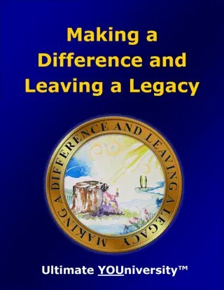 Making a Difference and Leaving a Legacy - Bundle Offer