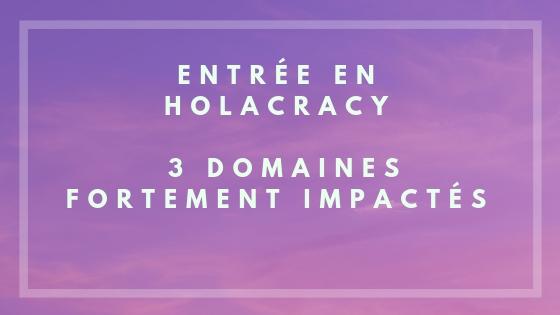 Entrée en Holacracy _ 3 domaines fortement impactés