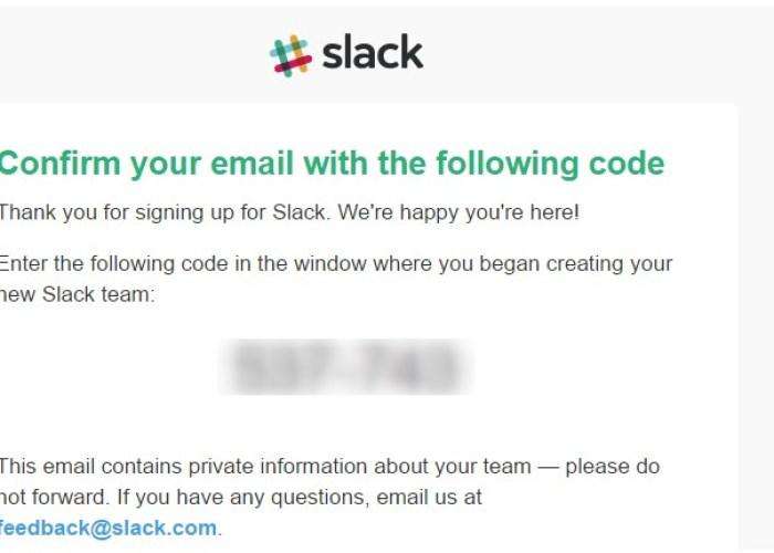 slack-verification email - 2