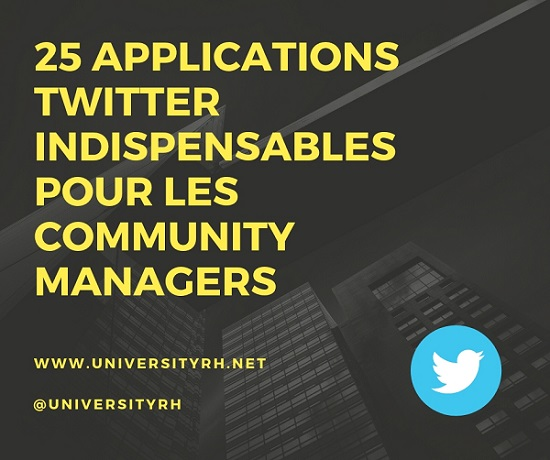 25 applications Twitter - community Managers