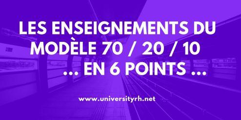 Les enseignements du modèle 70 / 20 / 10 en 6 points ...