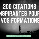 200 citations pour agrementer vos formations
