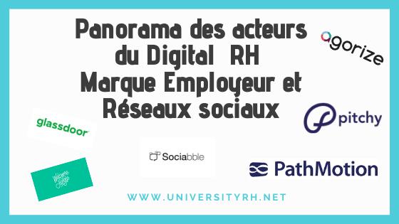 Panorama des acteurs du Digital RH_ Marque Employeur et Réseaux sociaux