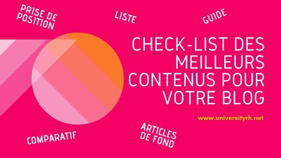 Check-list des meilleurs contenus pour votre blog