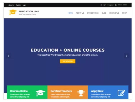 wordpress-theme-theme education LMS
