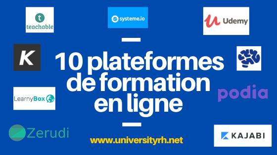 10 Plateformes pour créer des formations en ligne