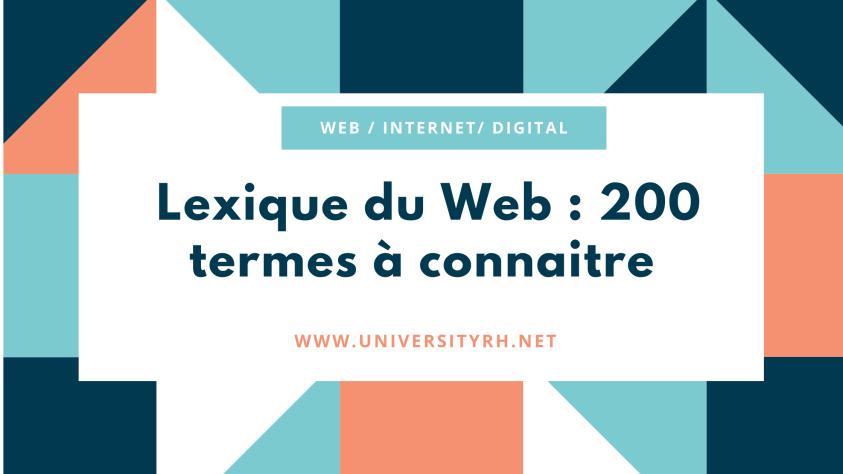 Lexique du Web : 200 termes à connaitre