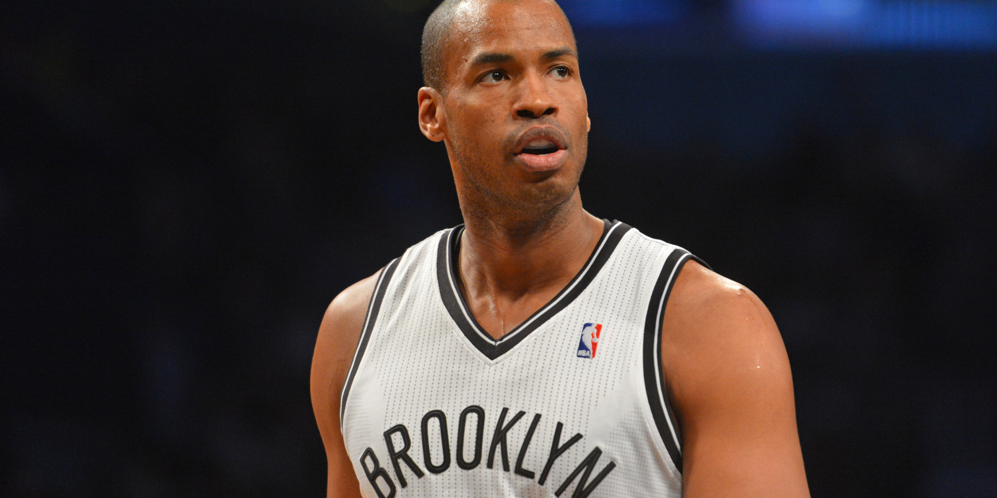BROOKLYN, NY - MARCH 10: Jason Collins #98 of the Brooklyn Nets during a game against the Toronto Raptors on March 10, 2014 at the Barclays Center in Brooklyn, New York. NOTE TO USER: User expressly acknowledges and agrees that, by downloading and or using this photograph, User is consenting to the terms and conditions of the Getty Images License Agreement. Mandatory Copyright Notice: Copyright 2014 NBAE (Photo by Jesse D. Garrabrant/NBAE via Getty Images)