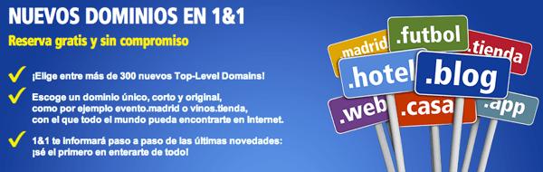 Reserva Gratis nuevos dominios internet