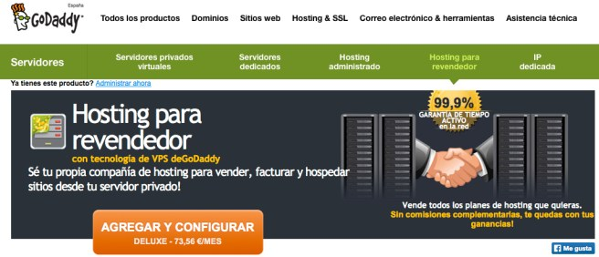 GoDaddy distribuidores hosting