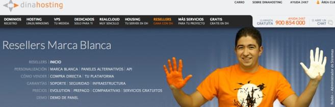 Dinahosting distribuidores de hosting