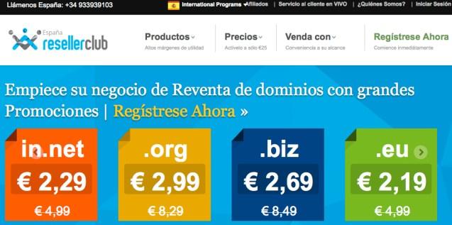 resellerclub distribuidor de productos de hosting