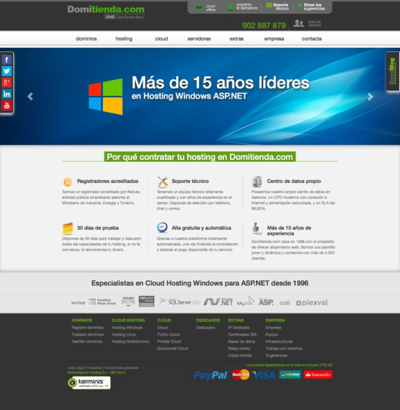 Domitienda Hosting