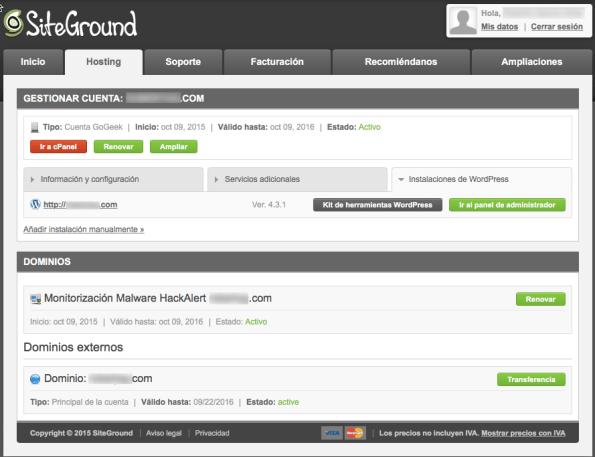 SiteGround España, Hosting WordPress