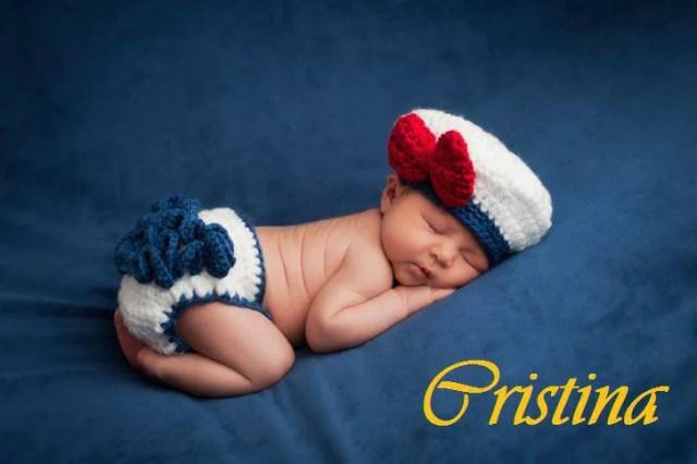 Cristina - Newborn Baby in Sailor Girl Costume