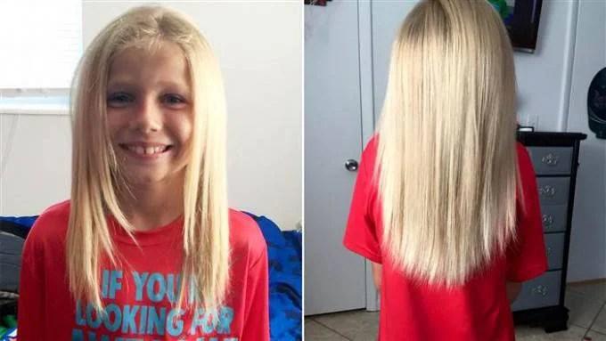 bimbo capelli lunghi