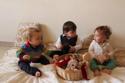 bimbi e cesto dei tesori