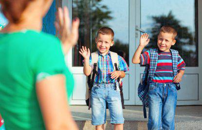 foto del primo giorno di scuola