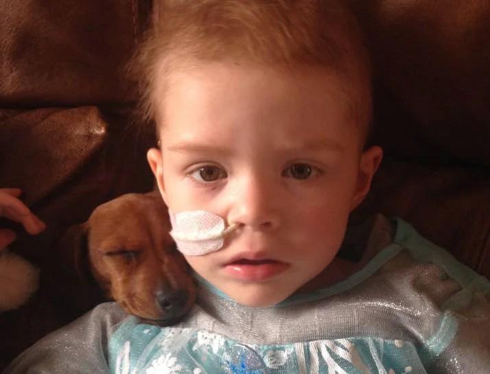 bambina malata e Natale