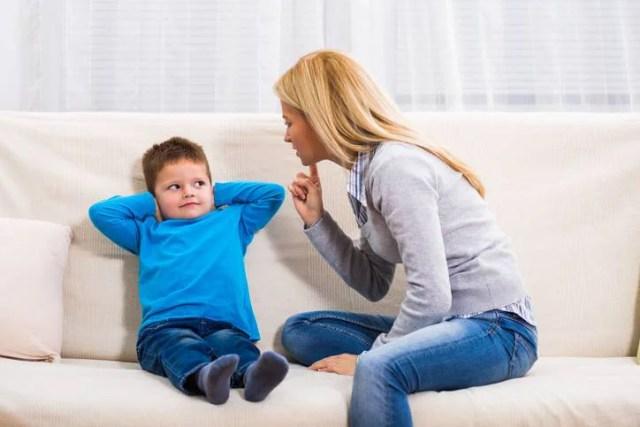 bambini non ascoltano