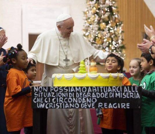 compleanno Papa Francesco 82 anni