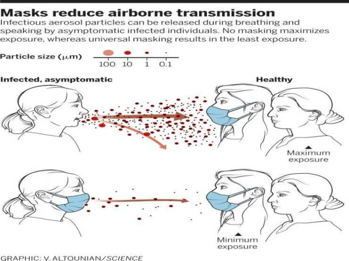 Masks limit virus transmission