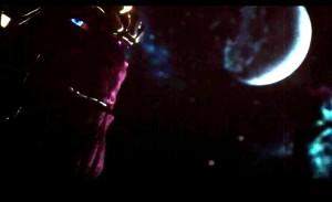 Thanos, en la escena final de Los Vengadores