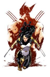 Ilustración de la portada de Death of Wolverine. The Logan Legacy 2 - X23