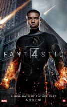 poster de personajes - cuatro fantasticos - johnny