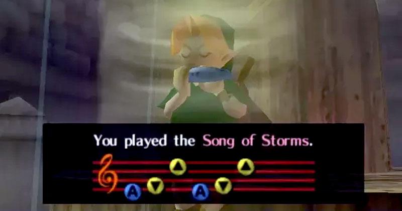 Versin De La Cancin De Las Tormentas En Piano Y Meldica Universo Zelda