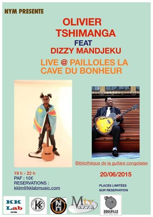 Show case privé : Olivier Tshimanga en scène avec Dizzy Mandjeku