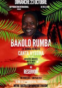 Concert Bakolo Rumba Dimanche 23 octobre 2016