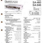 Technics SA-460 SA-946 Service Manual