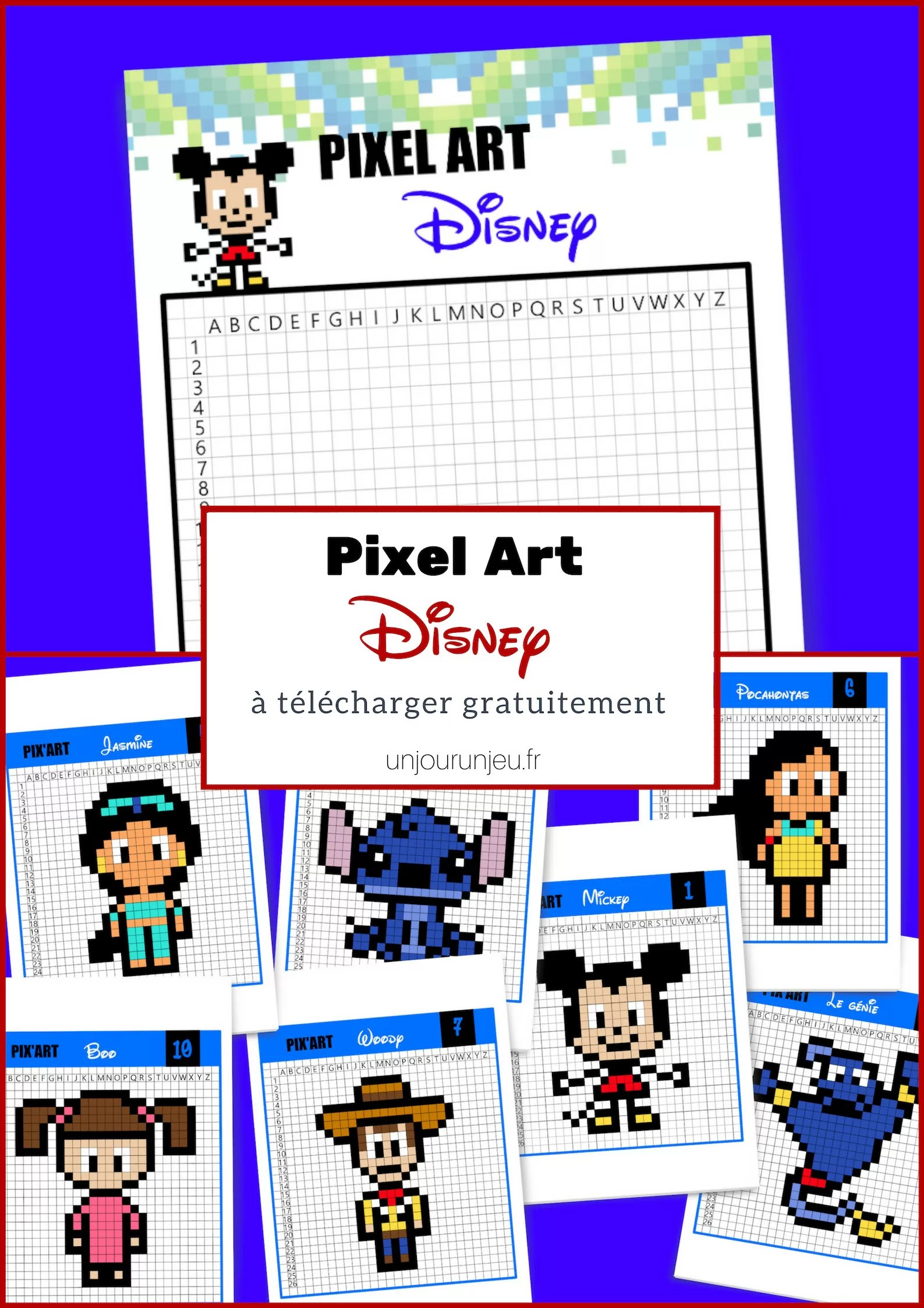Dessin Disney Pixel On Log Wall