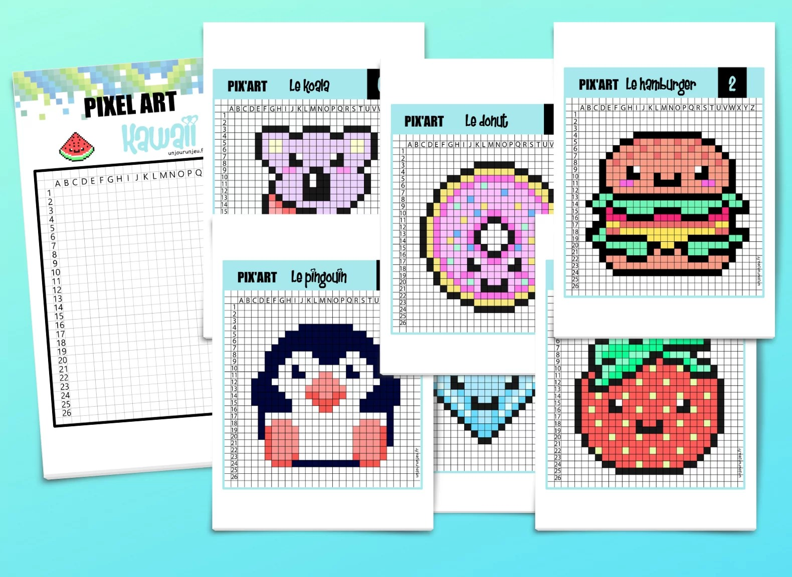 pixel art kawaii 12 modeles trop