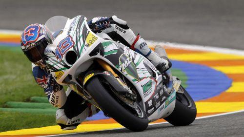 Anthony West beim Moto2-Rennen 2011 in Valencia. Foto: MZ