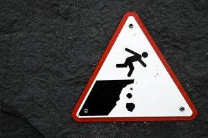Cliff warning
