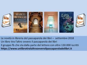 Le novità in libreria settembre 2018 Recensioni UnLibro