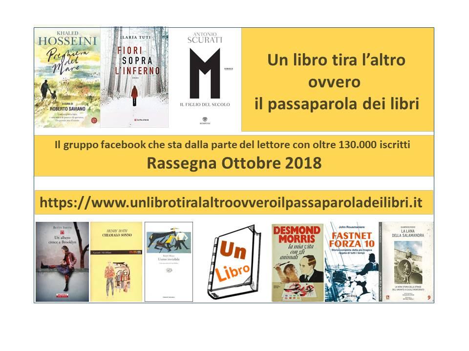 Rassegna mensile dei libri più letti e commentati – ottobre 2018 – Anno Ⅱ n. 10