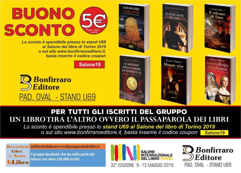Bonfirraro Buono sconto salone del libro di Torino