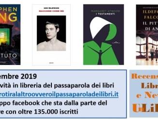 Le novità in libreria del passaparola Settembre 2019