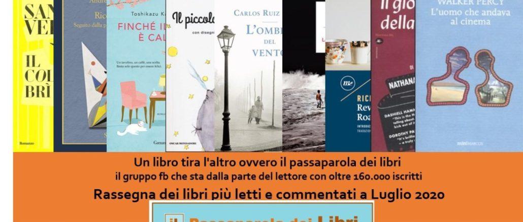 Libri più letti e commentati a Luglio 2020