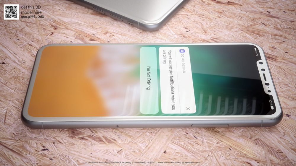 iphone 8 renders in white